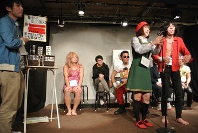 最初の一組目、ボケ:野沢ダイブ禁止、ツッコミ:まなてぃ