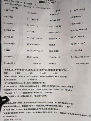 「お子様ランチ vol.19」香盤表